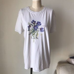 UO Project Social T Blue Violet Crew Neck Tee